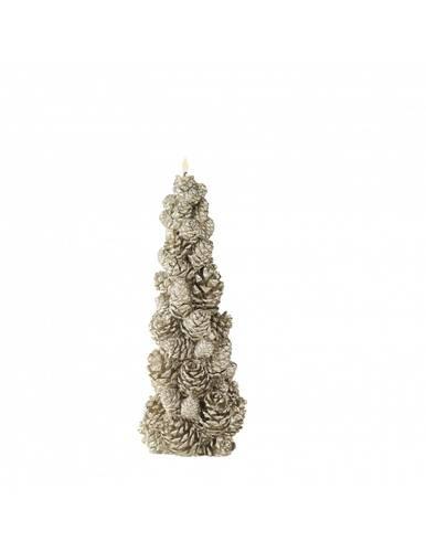 Candela natalizia albero pigne dorate 23,5h