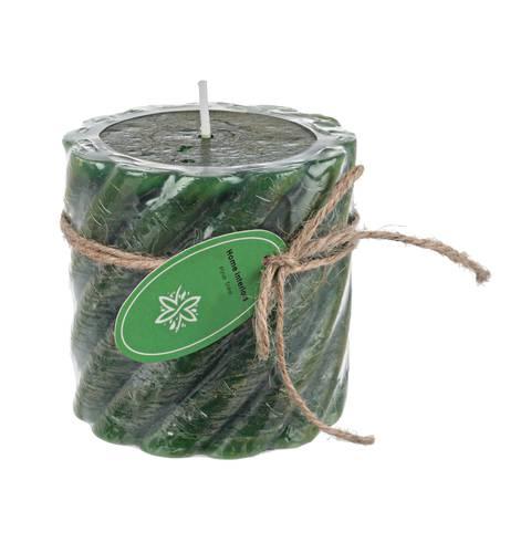 Candela twist verde profumata 7,5h