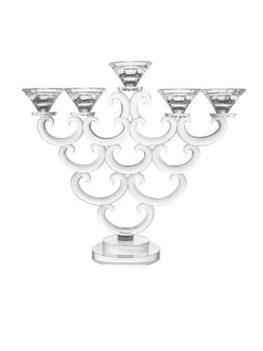 Candeliere cristallo ventaglio 5 fiamme