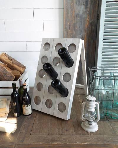 Cantinetta portabottiglie legno bianco 15 posti