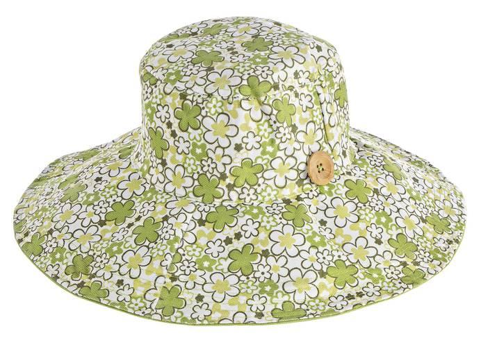 Cappello da giardinaggio fiori verdi