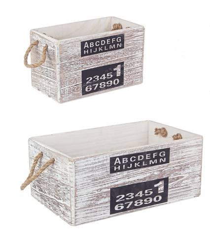 Cassetta legno grigio stampa numeri