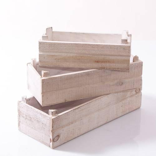 Cassetta stretta legno sbiancato