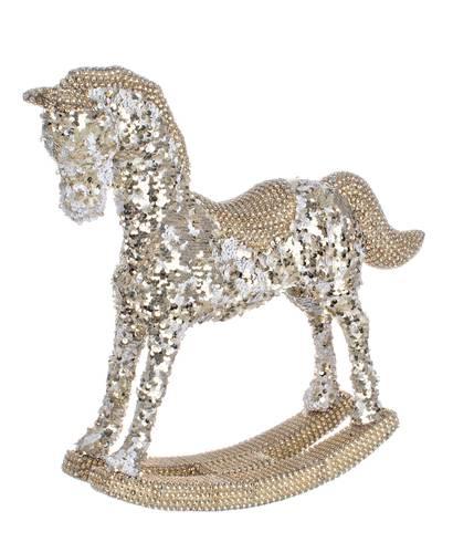 Cavallo paillettes oro