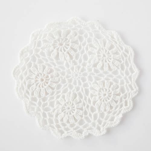 Sottopentola uncinetto cotone bianco cm 23