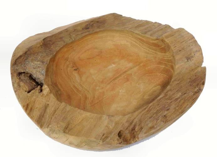 Ciotola legno teak bordo spesso cm30