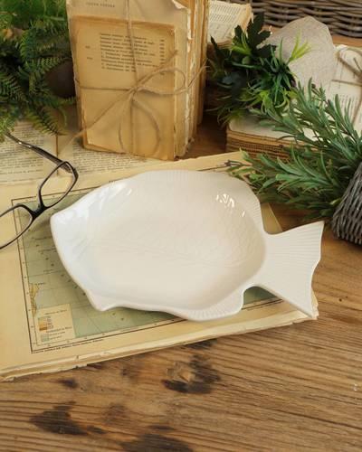 Ciotola pesce ceramica bianca