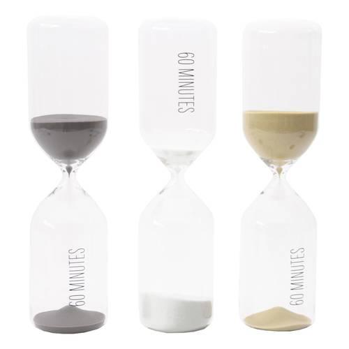 Clessidra cilindro vetro sabbia colorata 60 minuti