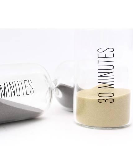 Clessidra cilindro vetro sabbia natural 30 minuti
