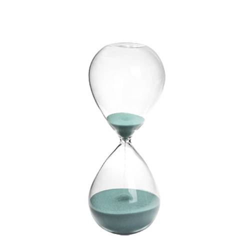 Clessidra vetro sabbia turchese 18h