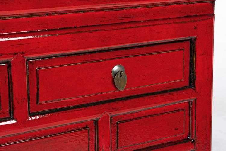 Consolle Jinan legno rosso cina 3 cassetti
