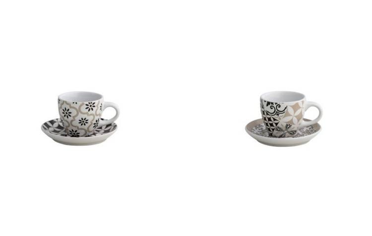 Coppia tazzine da caffè Alhambra bianco e nero