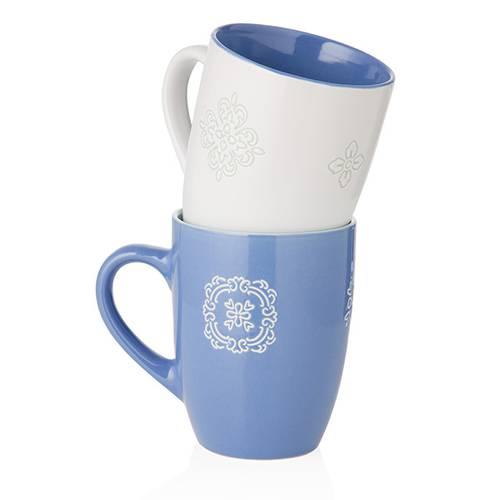 Coppia tazze mug panarea bianco-blu cobalto