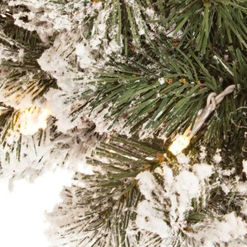 Corona rami pino verde innevato cm45