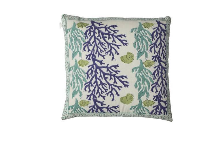 Cuscino coralli turchesi-blu 45x45