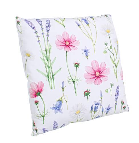 Cuscino floreale fiori rosa 45x45