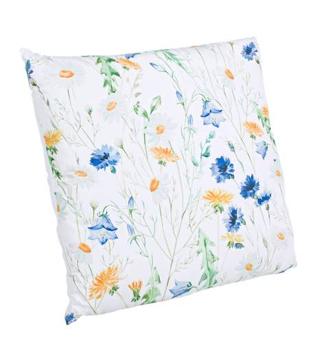 Cuscino floreale verde fiori blu 45x45