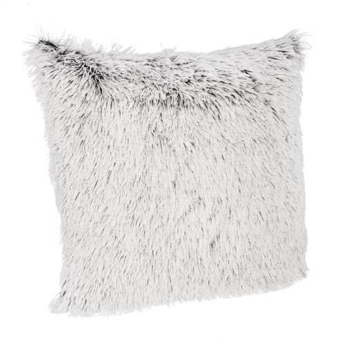 Cuscino pelo grigio-bianco 45x45