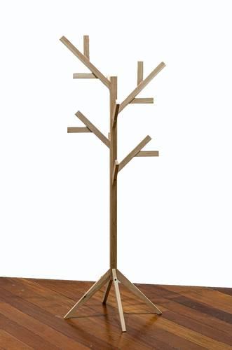 Appendiabiti da terra albero legno naturale