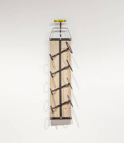 Porta bottiglie da parete verticale 4 posti