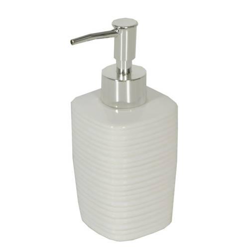 Dispenser sapone liquido quadrato ceramica bianca