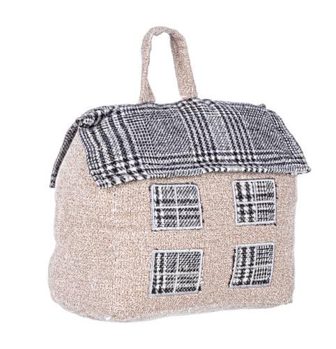 Fermaporta casa cottage tartan grigio
