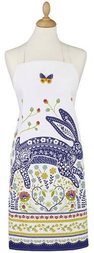 Grembiule cotone coniglio blu e fiori Ulster Weavers