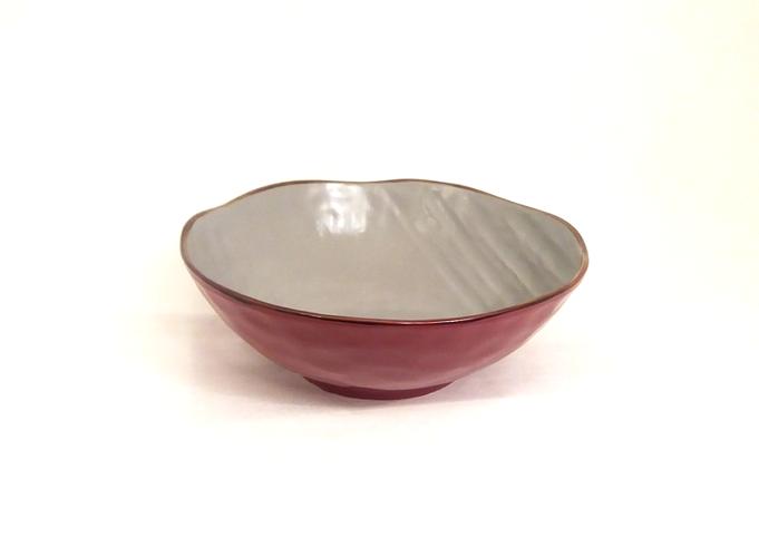 Insalatiera rossa porcellana collezione mediterraneo