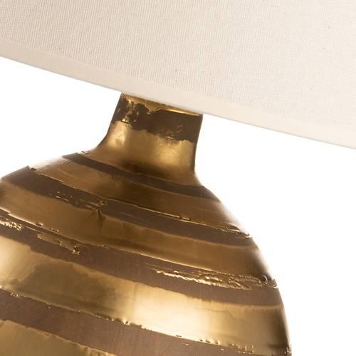 Lampada ceramica cerchi oro da tavolo 47h