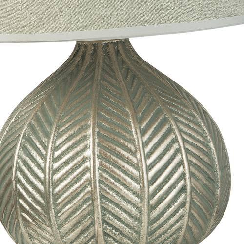 Lampada ceramica verde-oro tonda 40h