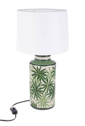 Lampada porcellana tropicale da tavolo