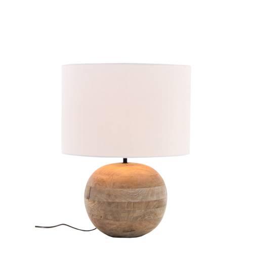 Lampada sfera legno naturale da tavolo 44h