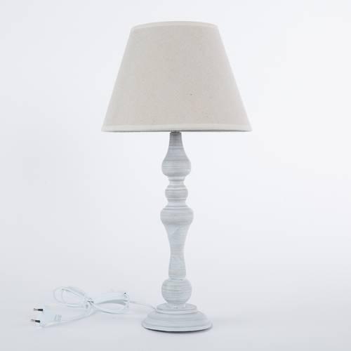Lampada tavolo metallo grigio 53h