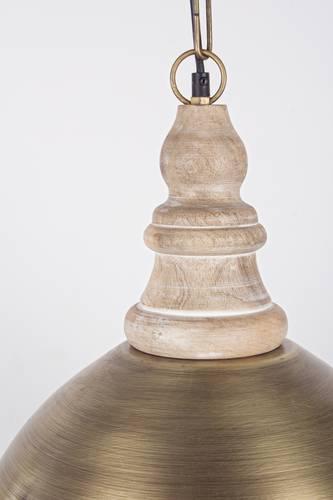 Lampadario campana metallo color ottone cm41