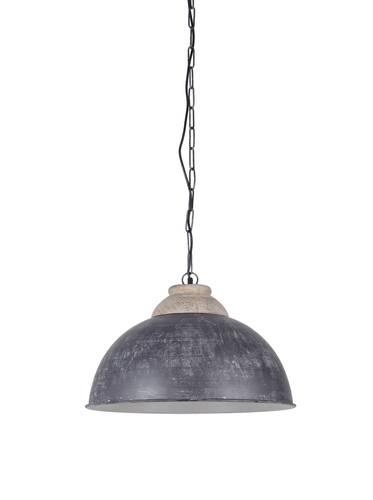 Lampadario campana metallo colore grigio cm52