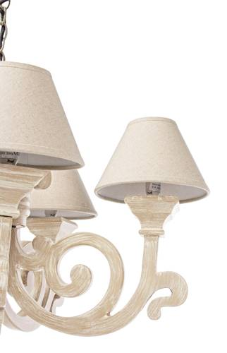 Lampadario legno naturale riccioli 5 luci