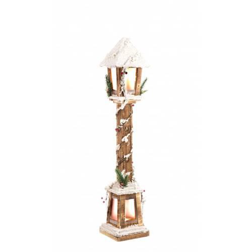 Lampione legno natale naturale luce led 85h