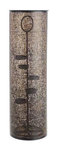 Lanterna portacandele cilindro metallo nero oro 60h