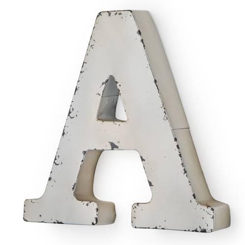 Lettera metallo A bianca