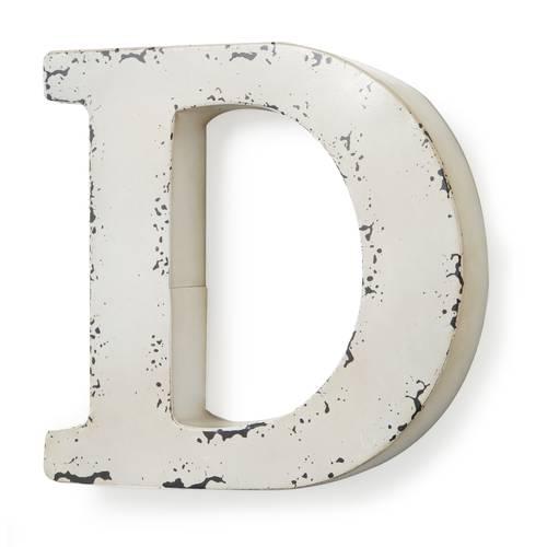 Lettera metallo D bianca
