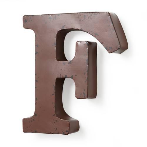 Lettera metallo F rossa