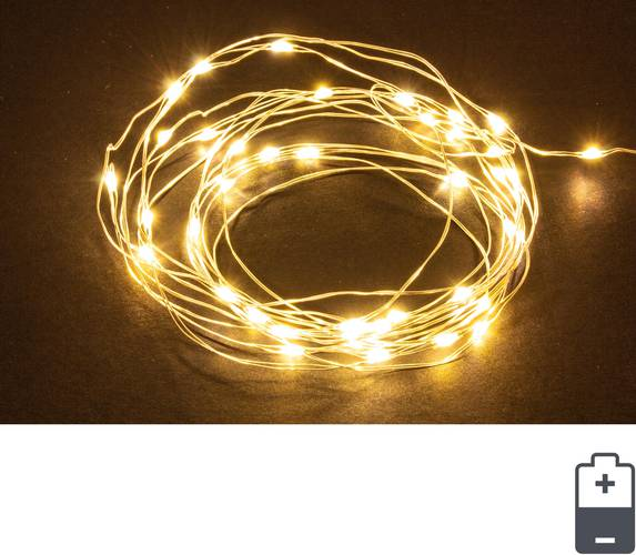 Luci di natale catena luminosa microled mt 3,20 con batteria