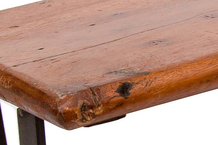 Mensola due ripiani legno e ferro cm 92