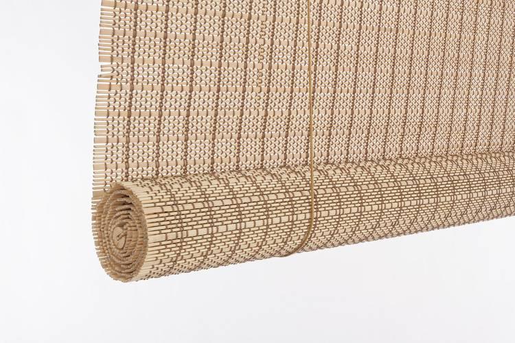 Tapparella da sole midollino naturale tessitura marrone avvolgibile