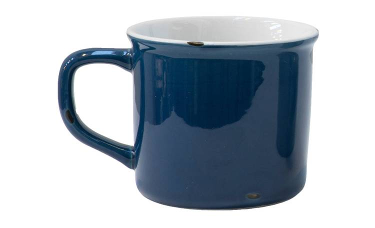 Mug smaltata blu larga h10