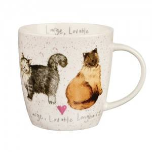 Mug tazza gatti Lovable pelo lungo porcellana