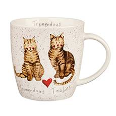 Mug tazza gatti tigrati Tremendous tabbies porcellana