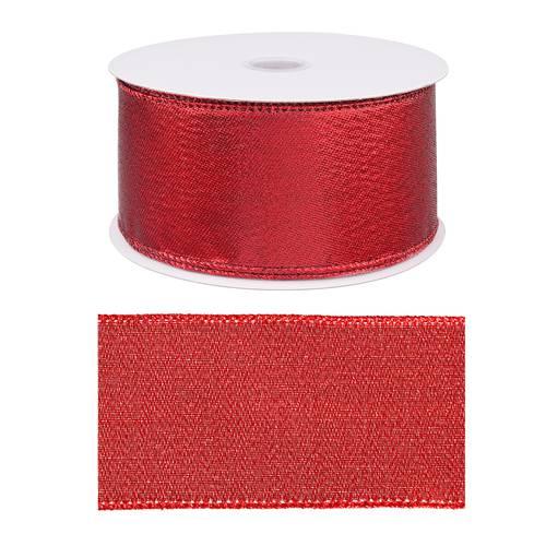 Nastro natalizio rosso glitter 6,3x20metri