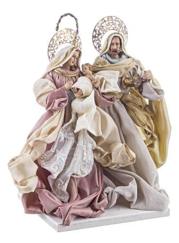 Nativita' sacra famiglia onorata in tessuto 39h