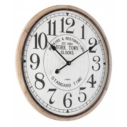 Orogio in legno con quadrante bianco York Town Clocks